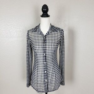 Cabi Sheer Button Down Shirt Style #736 Size Small